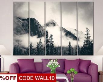 Mountain landscape, Mountain wall art, Mountain print, mountains canvas, Sunrise mountain, Mountain poster, Mountain art, Mountain decor