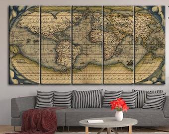 Large vintage world map antique world map canvas wall art world map antique world map world wall map vintage map vintage world map large world map wall map canvas a large world map gumiabroncs Images