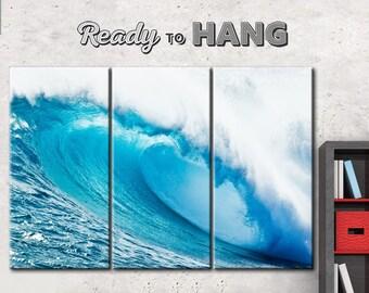 Sea wave, Blue Sea wave, canvas art waves, Sea canvas, sea waves, Sea waves canvas, Gift to the seaman, Large blue waves, Waves of art