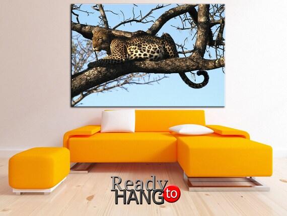 Leopard canvas Leopard wall art Leopard print Leopard | Etsy