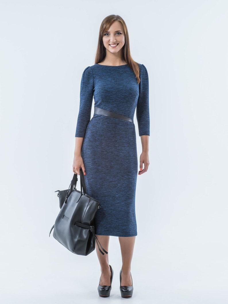 7d3960510507 Work midi dress casual pencil dress elegant office dress | Etsy