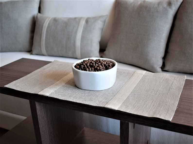 Table Centerpiece Linen Table Cloth Modern Coffee Table Etsy