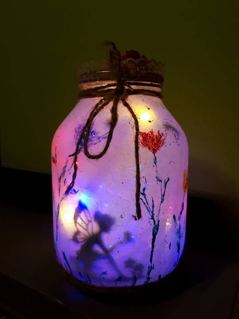 the latest 9eef2 11b20 Large fairy jars with string lights inside