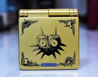 Backlit IPS GBAsp Mod Nintendo GameBoy Advance SP Zelda Majora's Mask Glass Lens