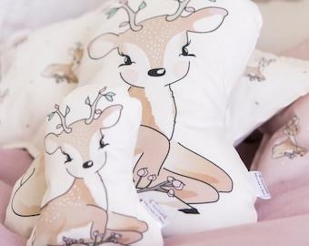 Decorative Nursery Pillow, Fawn pillow, baby pillow, deer pillow, nursery decor pillow, woodland nursery decor, crib pillow, kids pillow