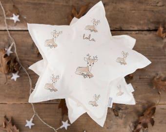 Personalized pillow, Star decorative pillow, Decorative Nursery Pillow