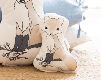 Baby Rattle, Fox pillow, fox cushion, baby pillow, fox nursery pillow, kids pillow, kids cushion, woodland nursery decor, baby shower gift