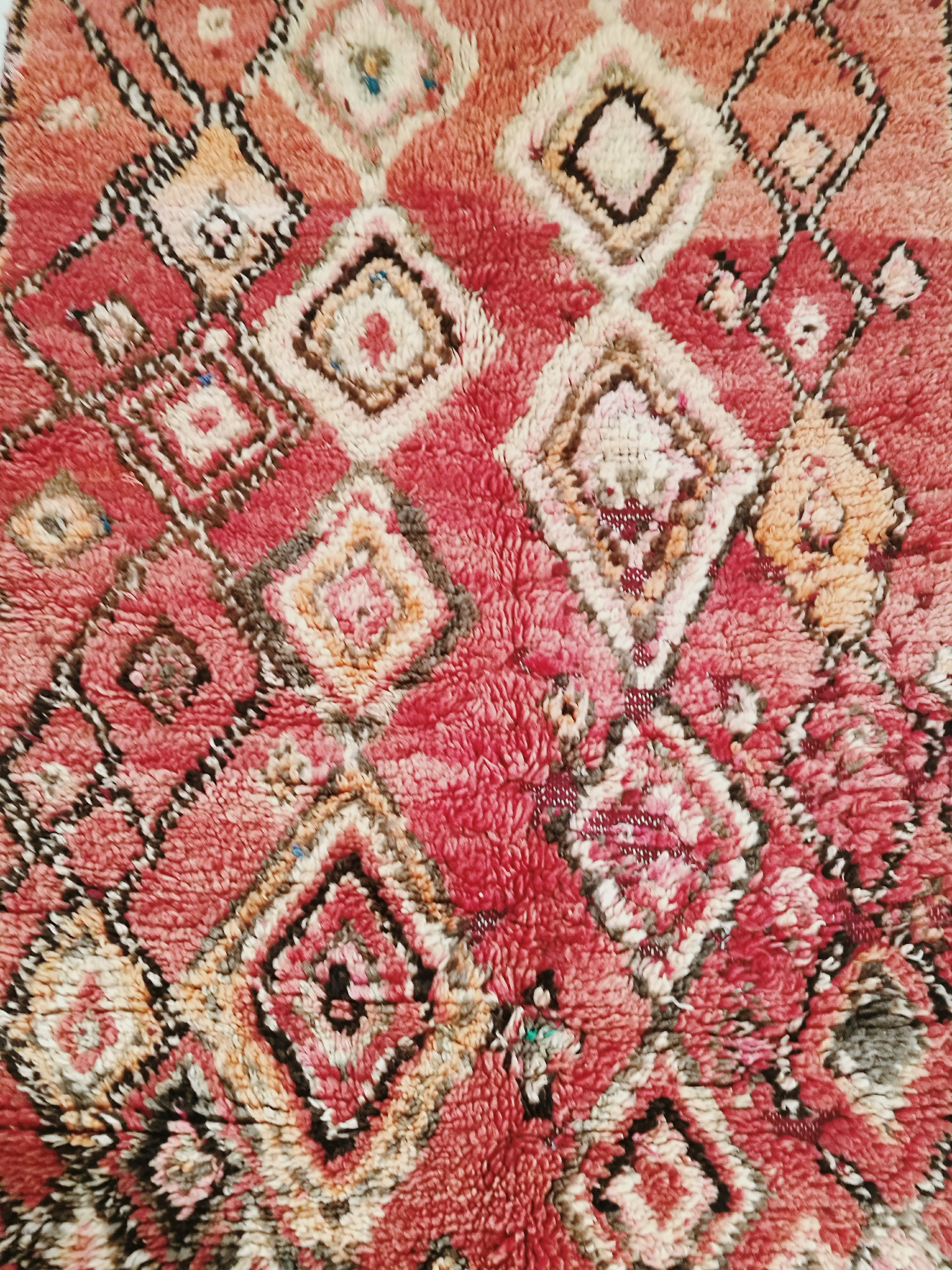Berber carpet of the Moroccan Middle Atlas in the colors   Etsy