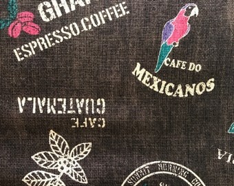 Coffee Bag Cotton Linen Dobby