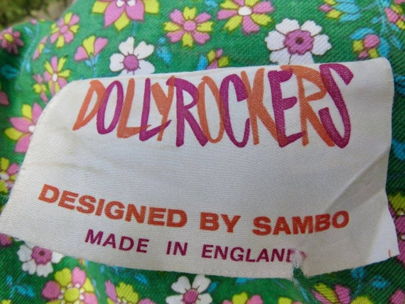 Dolly Rockers 18th century pastiche floral print … - image 8