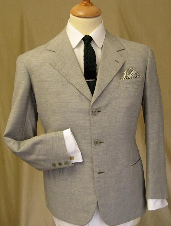 "Original 50-60's Italian mohair/wool suit 38"""