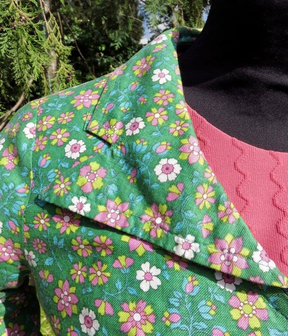 Dolly Rockers 18th century pastiche floral print … - image 4