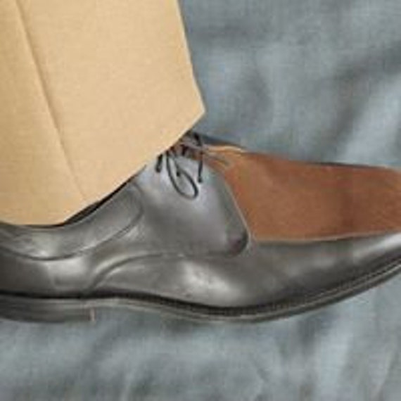 John Powell 90/'s Neo Mod designer all leather and suede fronted menswear shoes size 8.5