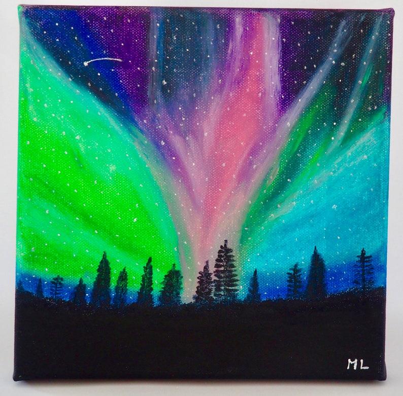 Aurora over Pines image 0
