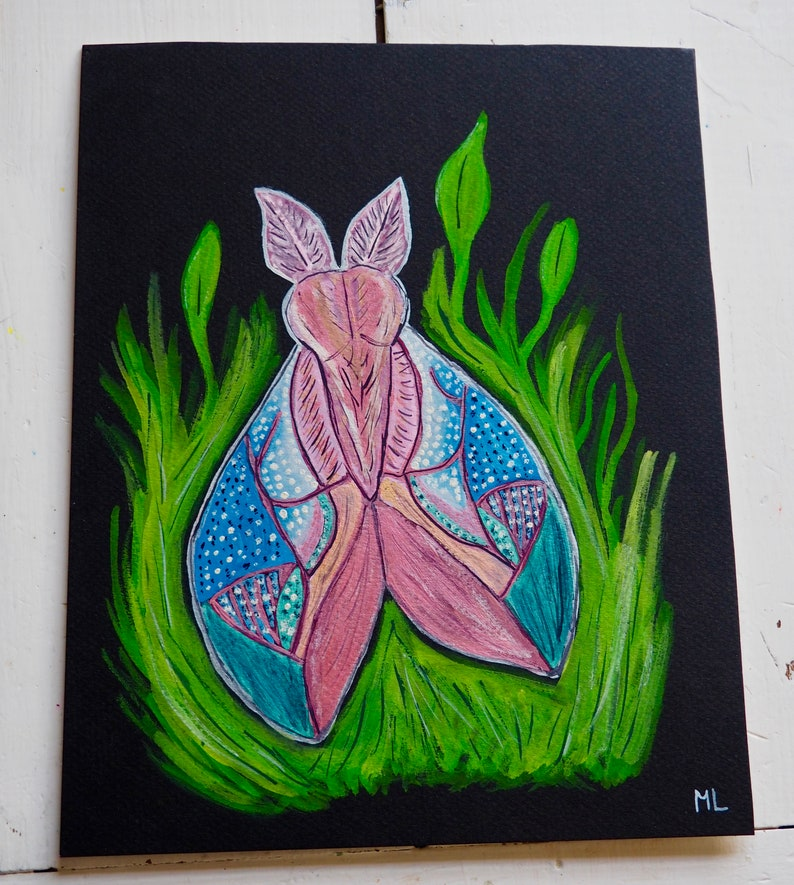 Trippy Cerise Moth image 0