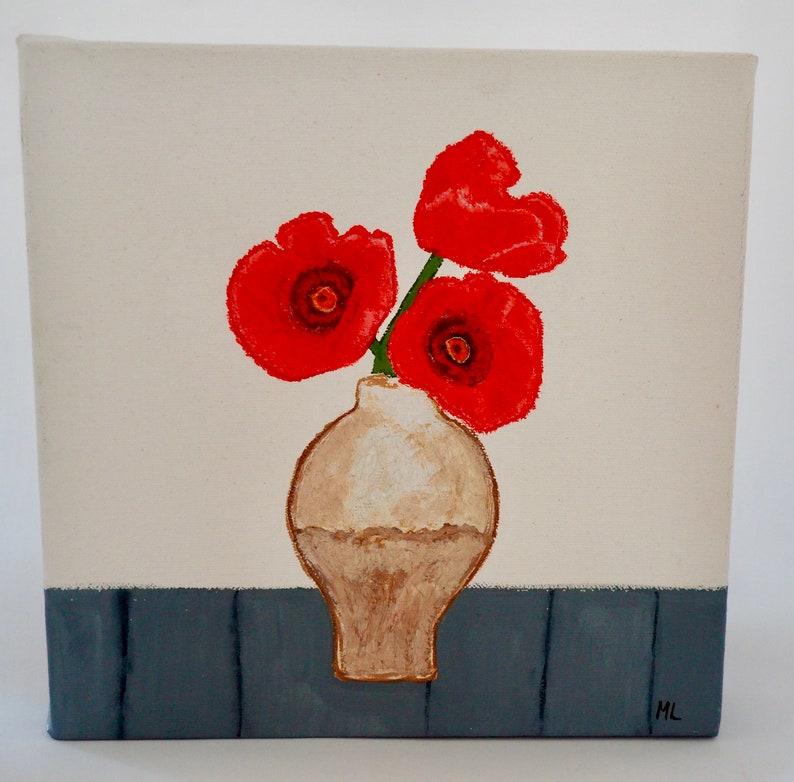 Poppies in Vase image 0