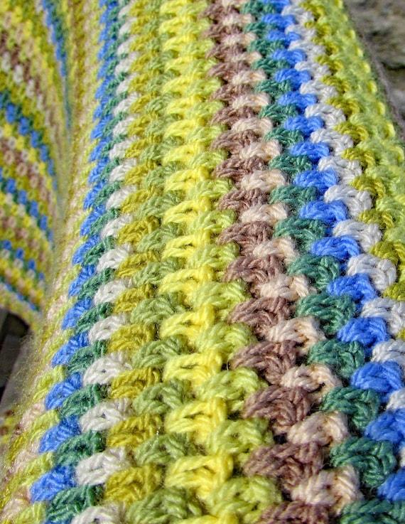 Spring Woodland Crochet Blanket Pattern Lap Blanket Easy Etsy
