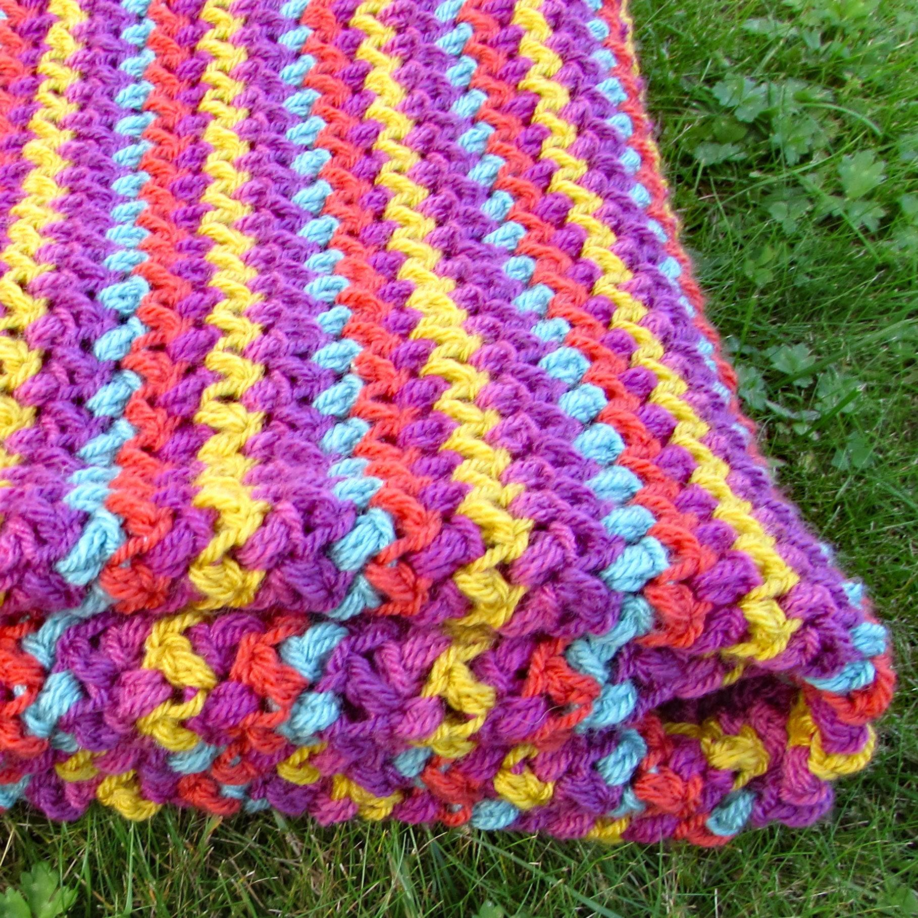 Gemüse Patch Gehäkelte Decke Bausatz häkeln Runde Decke