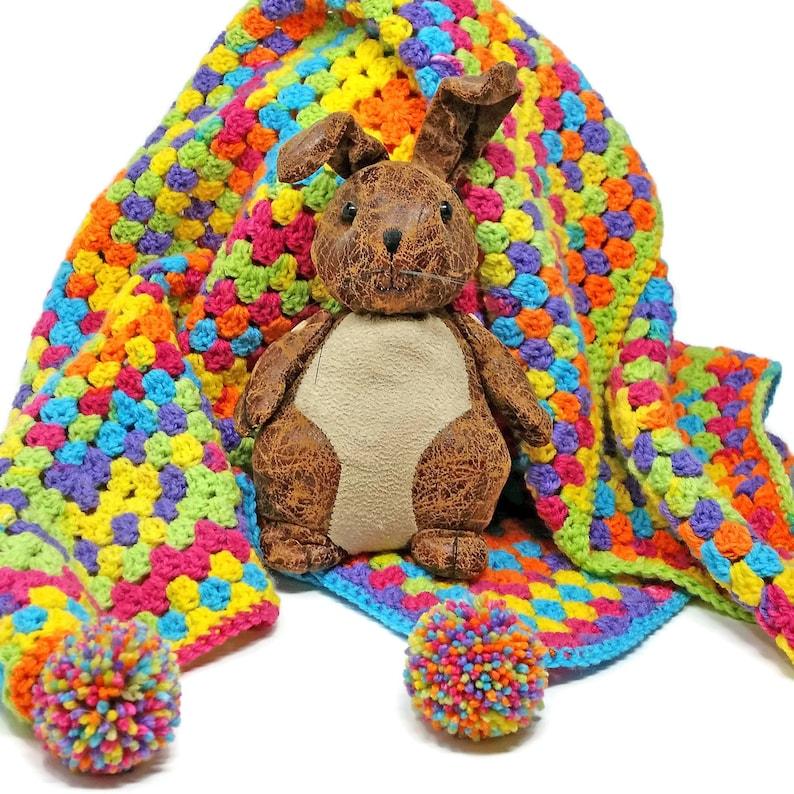 d29ffb16d Easy Peasy crochet baby blanket kit - make a lovely crib blanket for a baby  shower gift or new arrival - ideal for beginners