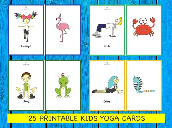 It is an image of Printable Yoga Poses for Preschoolers intended for kids yoga