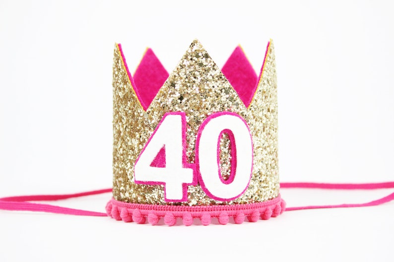 40th Birthday Crown Hat Party