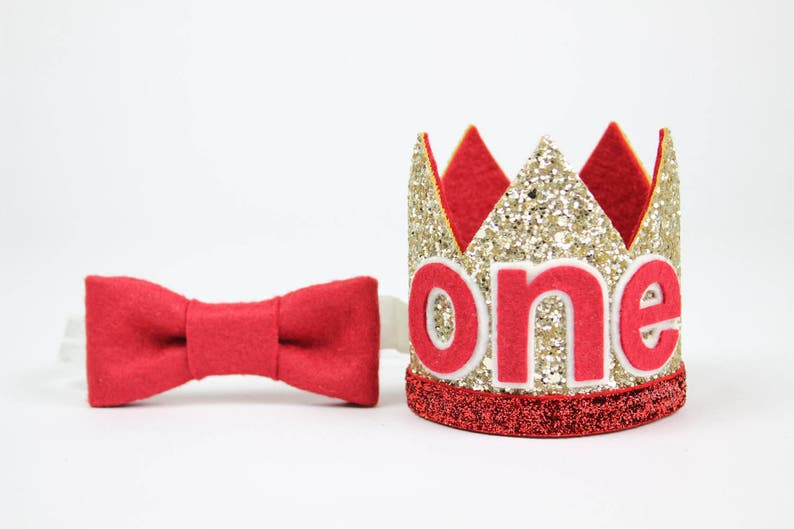 First Birthday Outfit Boy Crown Baby Party Hat