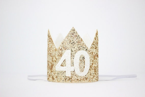Traffic Sign 40th Party Tiara With Feathers Birthday Favor Favour Hat Crown