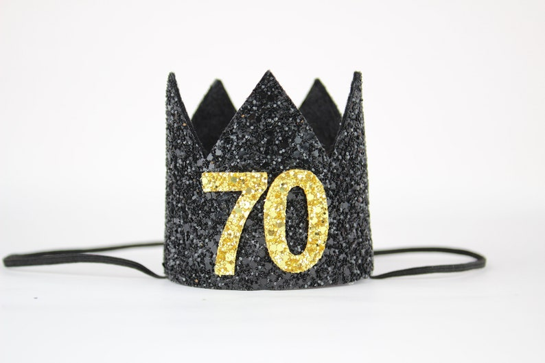 70th Birthday Crown Gift Hat