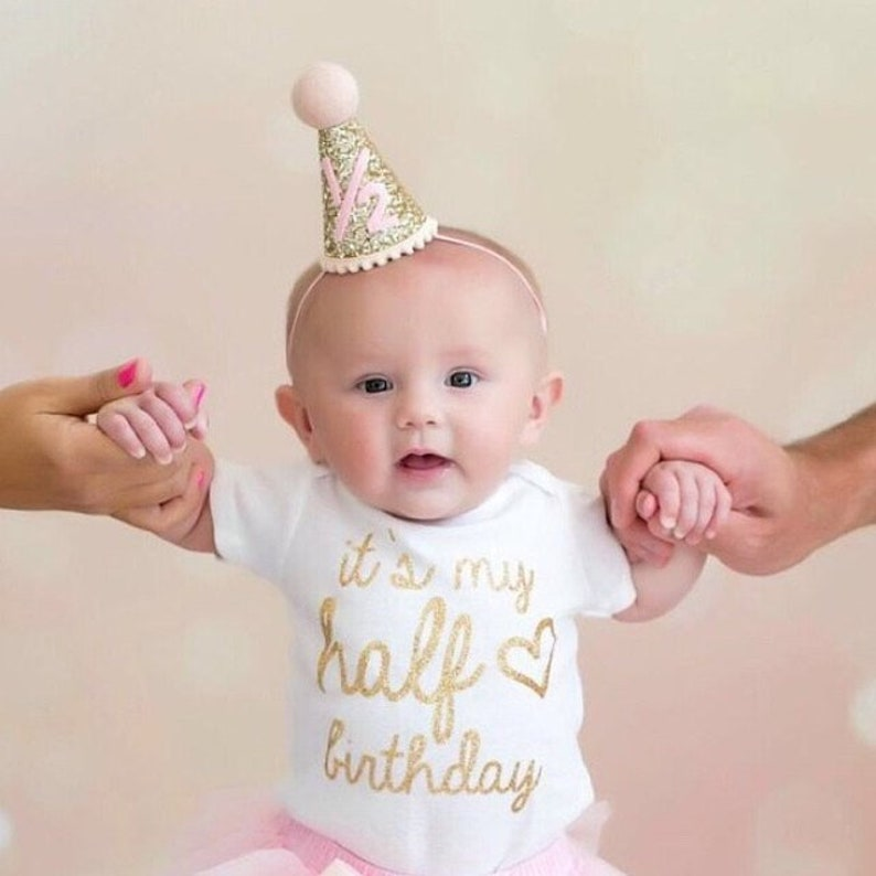 1 2 Birthday Hat For Baby Girl Half