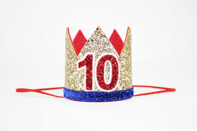 10th Birthday Wonderwoman Inspired Crown