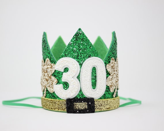 Flirty 30 Crown With Shamrocks
