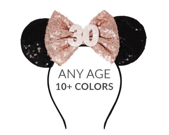 30 Geburtstag Minnie Mouse Ohren 30 Mit Einer Rose Etsy