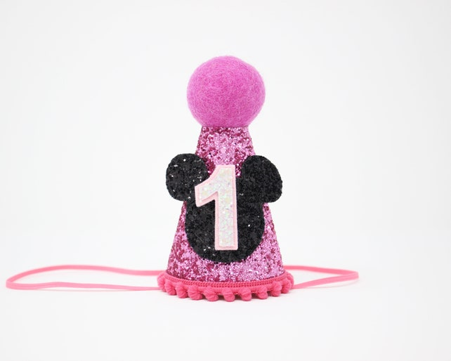 Minnie Mouse Birthday Hat 1st Outfit Girl