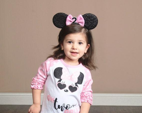 Disney Ears 2nd Birthday Minnie Mouse Ears Headband Baby  9531dac6cb4