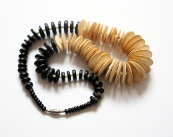 Vintage African necklace, disc, tribal