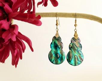 Abalone Earrings * Free SHIPPING *