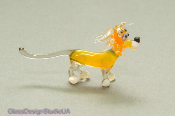 B40-4 Dachshund Glass Figurine decor gift Hand Crafted Murano art sculpture