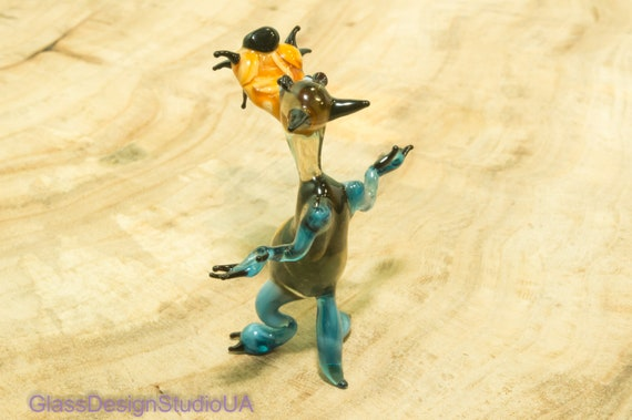 Glastier chameleon Glas Tier Glas Figur Glasfiguren Kristall Figuren Kristall