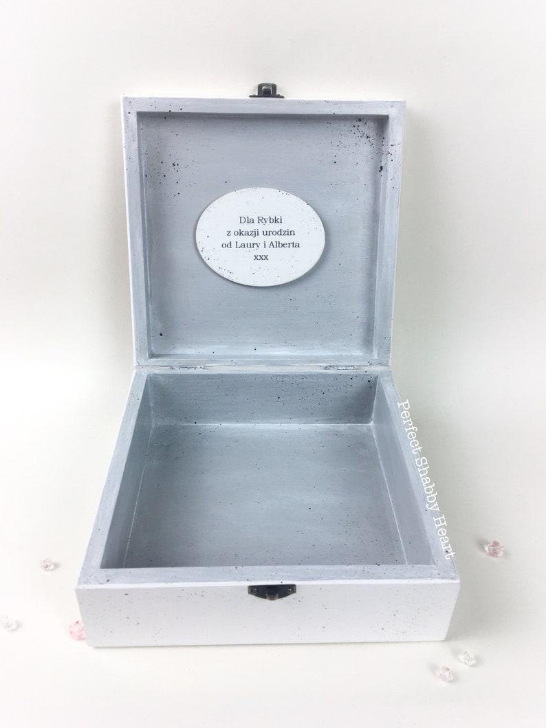 Mother/'s Day gift personalised gift jewellery box personalised wooden box vintage wooden jewellery box shabby chic box keepsake box