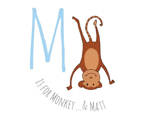 M is for... Monkey