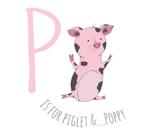 P is for Piglet...