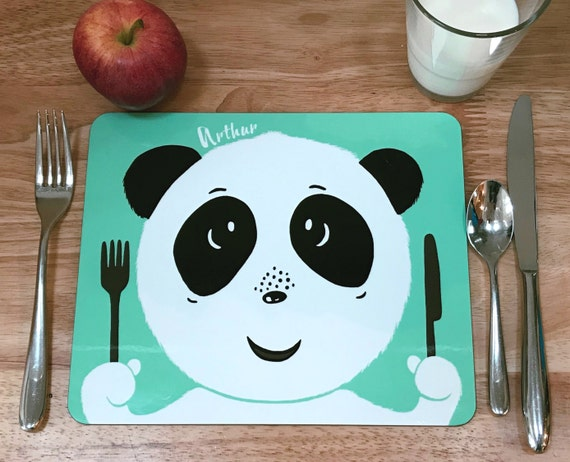 Child's personalised panda placemat