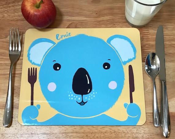 Child's personalised Koala placemat