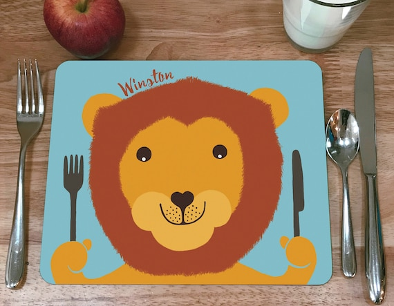 Child's personalised Lion placemat