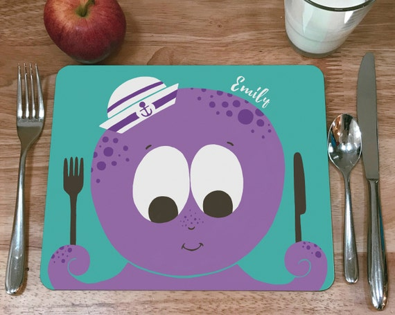 Child's personalised Octopus placemat