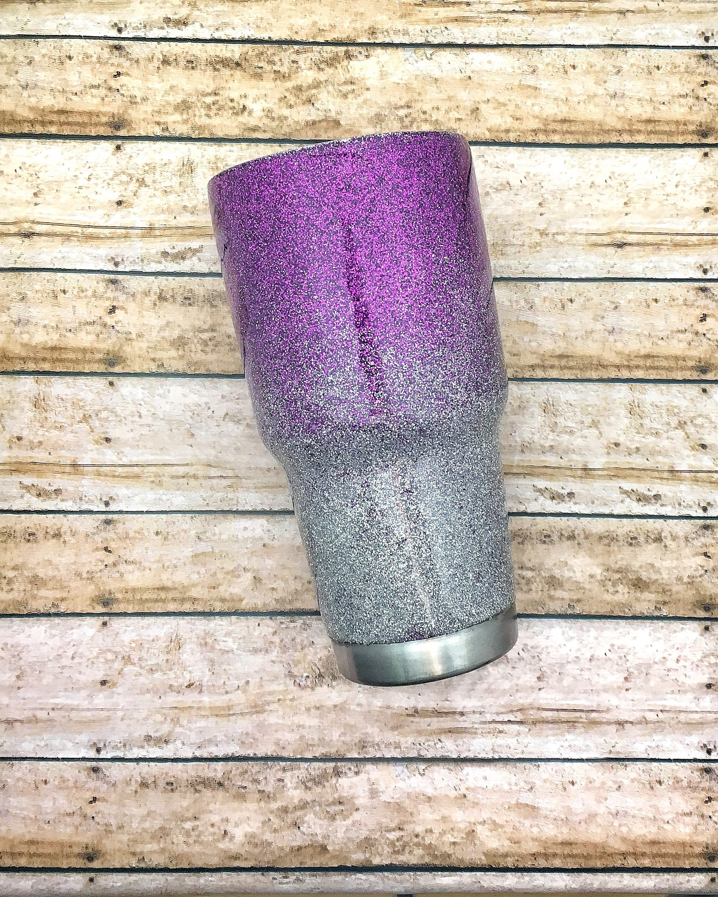 Ombre Glitter Eye Makeup Brushes Set Rose Gold In Make Up: Purple Glitter Cup-Ombre Glitter Cup-Purple Ombre Cup