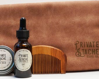 Beard Grooming Kit, Dopp Kit, Toiletry Bag, Grooming Bag, Gifts for Him