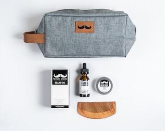 BEARD GROOMING KIT-Beard Oil, Balm, Comb, and Grooming Bag