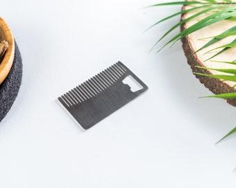 Beard Comb/Bottle Opener Stainless Steel EDC