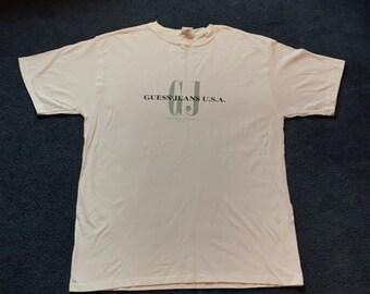 95fc2aba3c8d Vintage 1996 Guess ? Jeans T Shirt - xxl 2xl